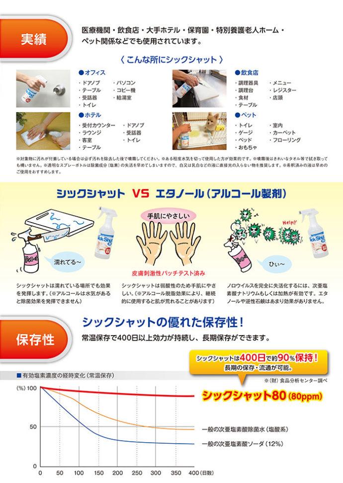 ゆうしんが使用している除菌剤の効果